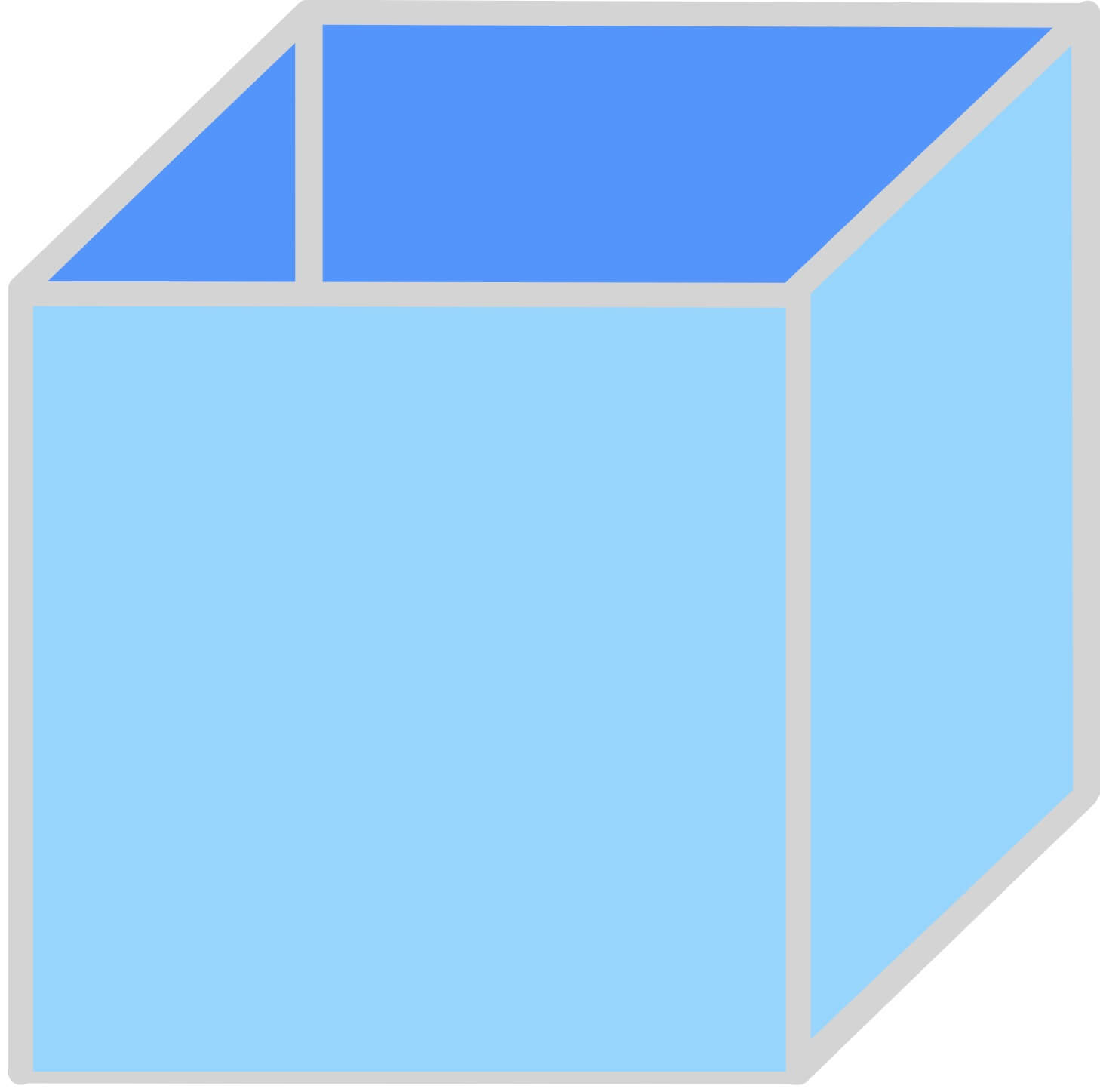 cube with bottom and all four sides solid