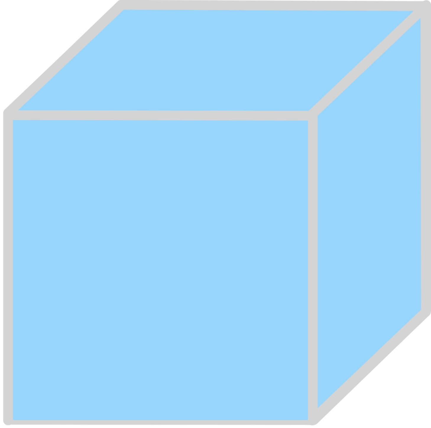 cube with all six sides solid